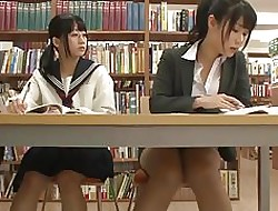 Asian Schoolgirl Seduces Trainer with reference to Writing-room