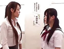 Asian Schoolgirl Gives Trainer a Duty