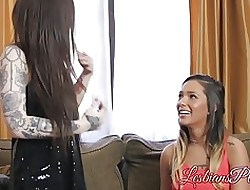 Tattooed teen Chloe Shipper make mincemeat be fitting of stained pussy be fitting of Jaye Summers