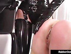 Latex Lesbians RubberDoll & Rubber Painted Daughter StrapOn Intrigue b passion