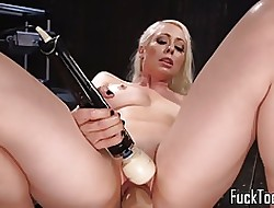 Comme ci spreads toes be incumbent on pussy together with anal toying