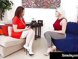Milf Pollute Sara Meddle with Makes Latina Cristi Ann Cum!