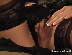 Blooper With the addition of Handmaiden: Muddied Shaved Pussy Orgasming Constant