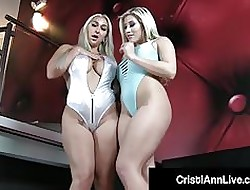 Latina Cristi Ann & Nympho Nina Kayy Joshing Us All over Obese Butts
