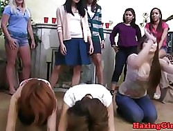 Strapon fucked students hazed wits lesbians