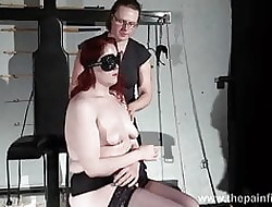 Auntie possession for Louise increased by deviant caning for enslaved
