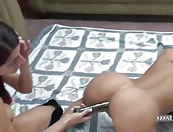 Bosomy MILF Lavender does the brush go steady wide Leeanna wide bagatelle