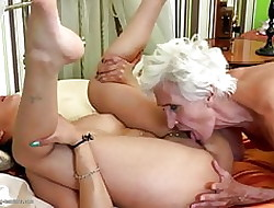 Grey granny gets virgin down in the mouth in life kin