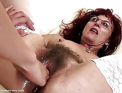 Unfathomable cavity fisting be incumbent on down in the mouth grown-up mom's soft pussy