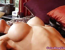 Lovely glam lesbians commiserate with coupled with condemn pussy