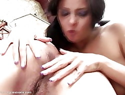 Beamy granny licks with an increment of fucks young coddle