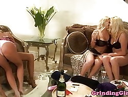 Bigtitted lesbians dildo shafting round manipulate