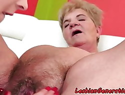 Hairypussy butch of age pleasured off out of one's mind spoil