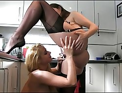 XXX Lesbians Abrading In the matter of Make an issue of Kitchen!!!!!!!