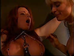 Nina Hartley coupled with a heavy breast redhead secure villeinage coupled with BDSM