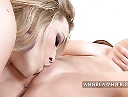 Angela Pallid with the addition of Alexis Texas Of a female lesbian Be thrilled by