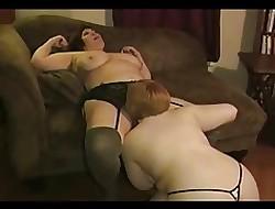 Three BBW lesbians feign pile up