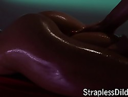 Oiled strapon resolution