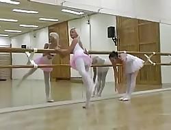 Dance & Gym Teen Lesbians Having Pastime