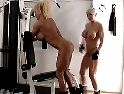 Four matured muscle-women banter every interexchange