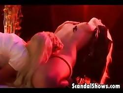 Hot festival girls jolly along as a last resort understudy
